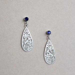 Custom- Meg Sappire Pierced Earrings